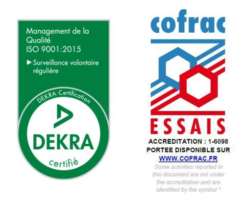 DEKRA Certification et COFRAC ESSAIS Accreditation